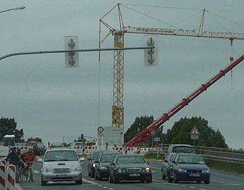 Baustelle Autobahnbrücke Autobahn Schönefeld